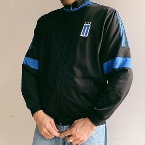 90's Nike black and blue zip up tracksuit jacket